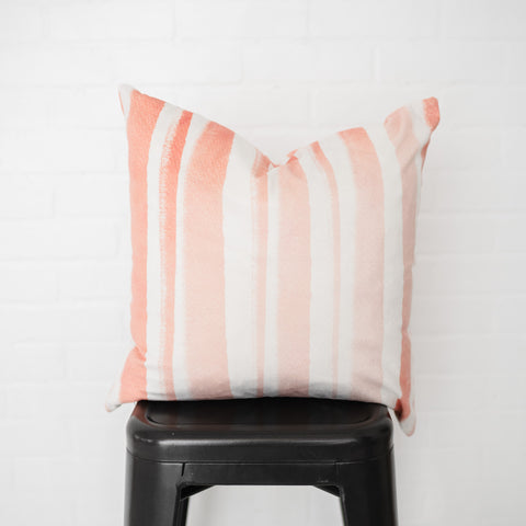 Pink Stripes Pillow Cover