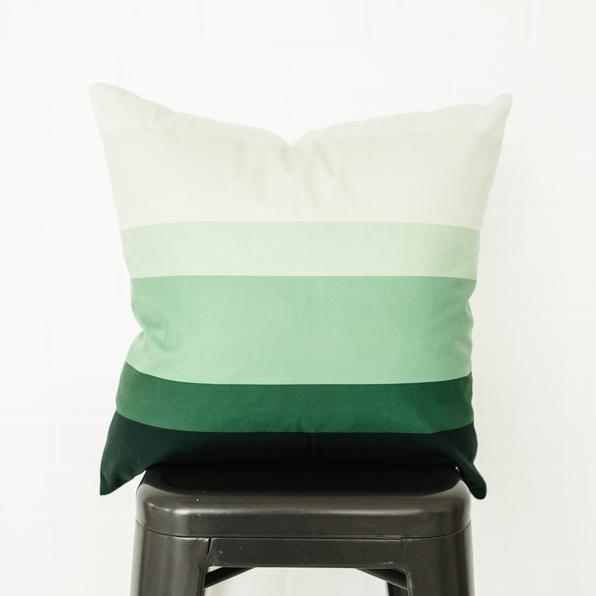 Green Ombre Pillow Cover