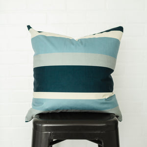 Blue Stripe Pillow Cover
