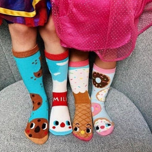 Milk & Cookies | Crowded Teeth Artist Series | Kids Collectible Mismatched Socks