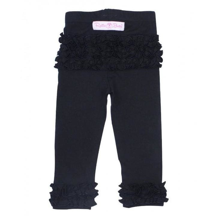 Black RuffleButts Leggins - so stylish and cute - Bottoms