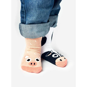 Cow & Pigs | Kids Collectible Mismatched Socks - Toddler 1-3 Years