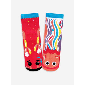 Crab & Jellyfish | Kids Collectible Mismatched Socks - Kids 4-8 Years