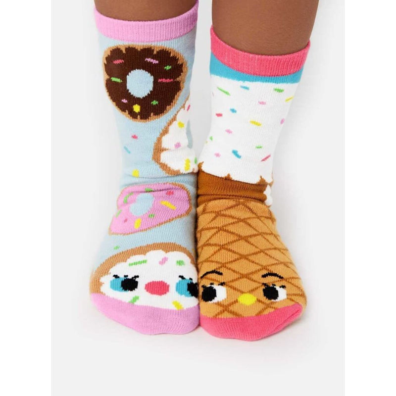 Donut & Ice Cream | Crowded Teeth Artist Series | Kids Mismatched Socks - Kids 4-8 Years