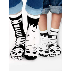Ghost & Skeleton | Glow In The Dark | Collectible Mismatched Socks Adult