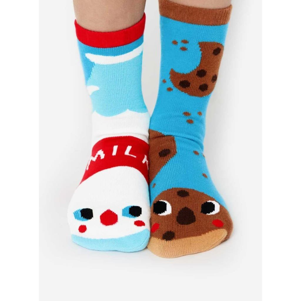 Milk & Cookies | Crowded Teeth Artist Series | Kids Collectible Mismatched Socks 1-3