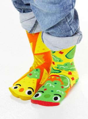 Chip and Guac | Crowded Teeth Artist Series | Kids Mismatched Socks