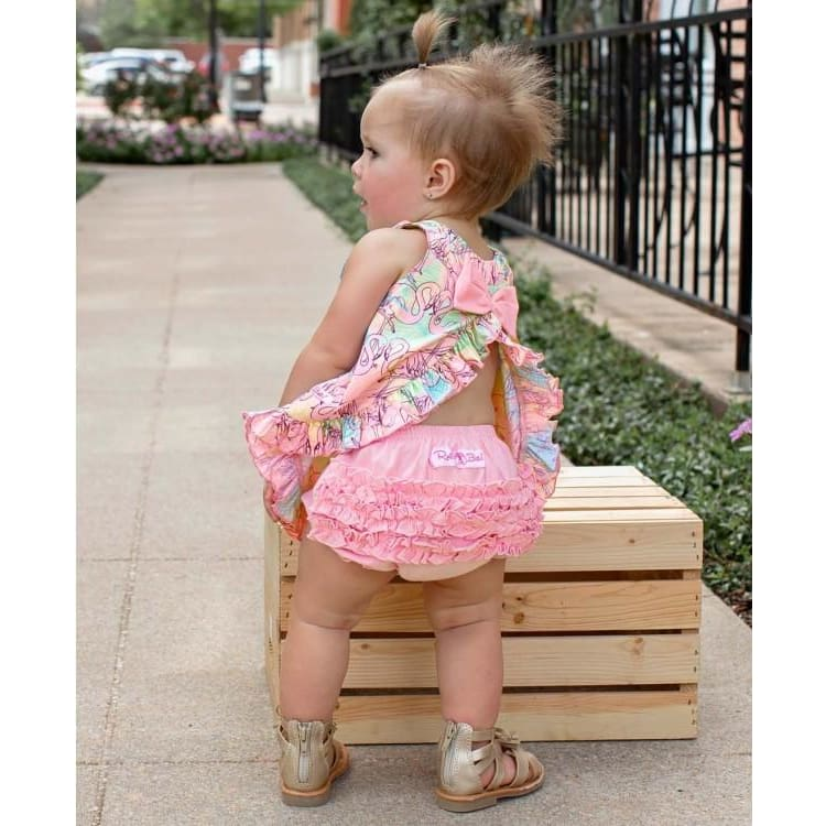 Pink Knit RuffleButt Bloomers - Bottoms