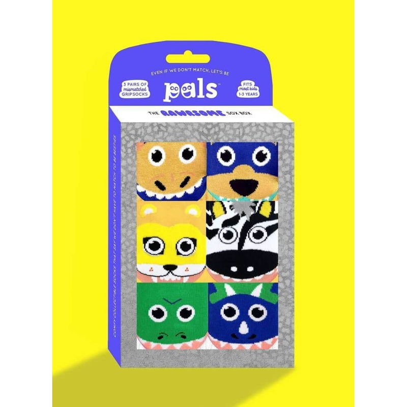 RAWRSOME | THREE MISMATCHED SOCKS SETS GIFT BOX | KIDS TODDLERS 1-3 YEARS - Socks