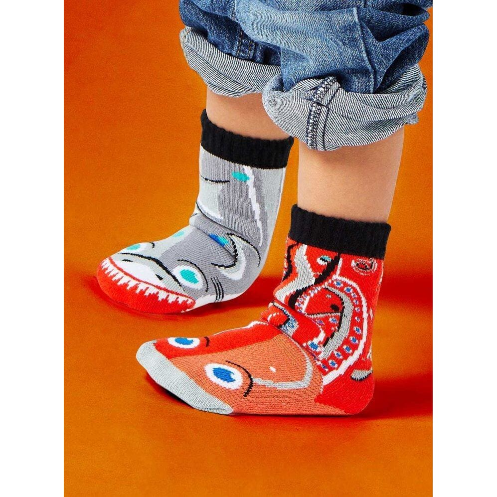 SHARK & OCTOPUS | KIDS COLLECTIBLE MISMATCHED SOCKS Age 1-3 - Socks