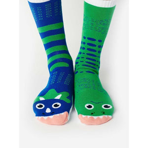 T-Rex & Triceratops | Kids Collectible Mismatched Socks Adults