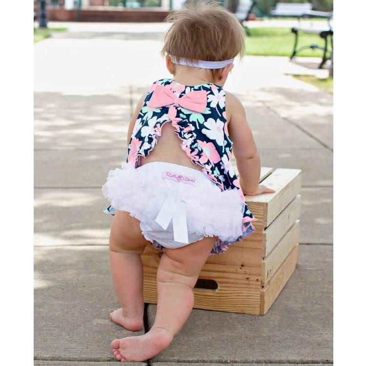 White Frilly Knit Ruffle Bloomers - Bottoms