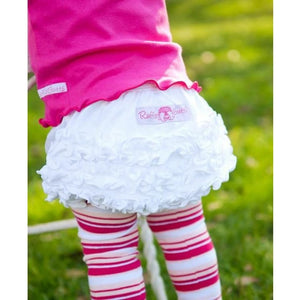White Knit RuffleButt Bloomers - Bottoms
