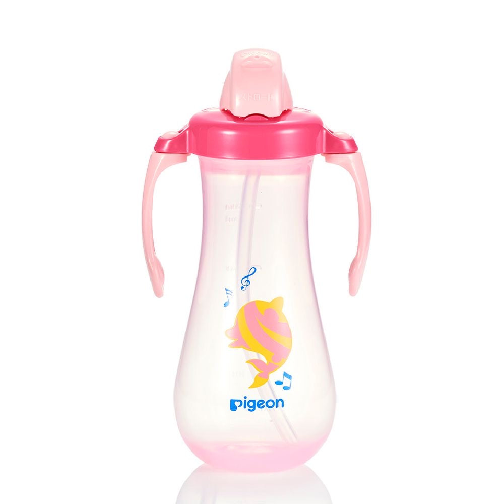 Tall Straw Bottle Pink Dolphin
