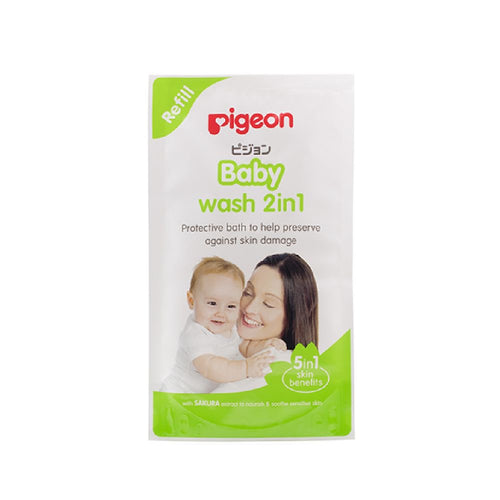 Sakura 2 in 1 Baby Wash Refill 900ml