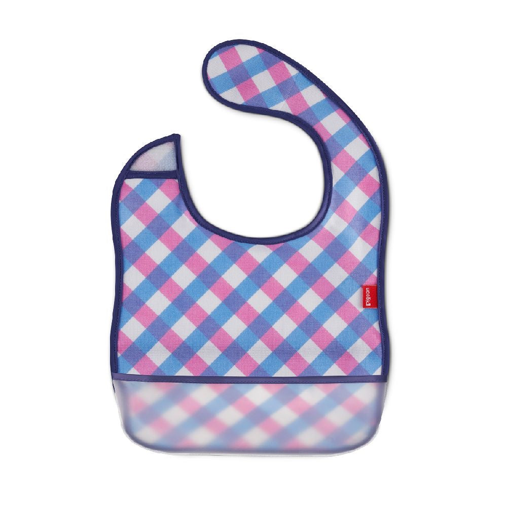 Pigeon 2 Way Baby Bib Checkered