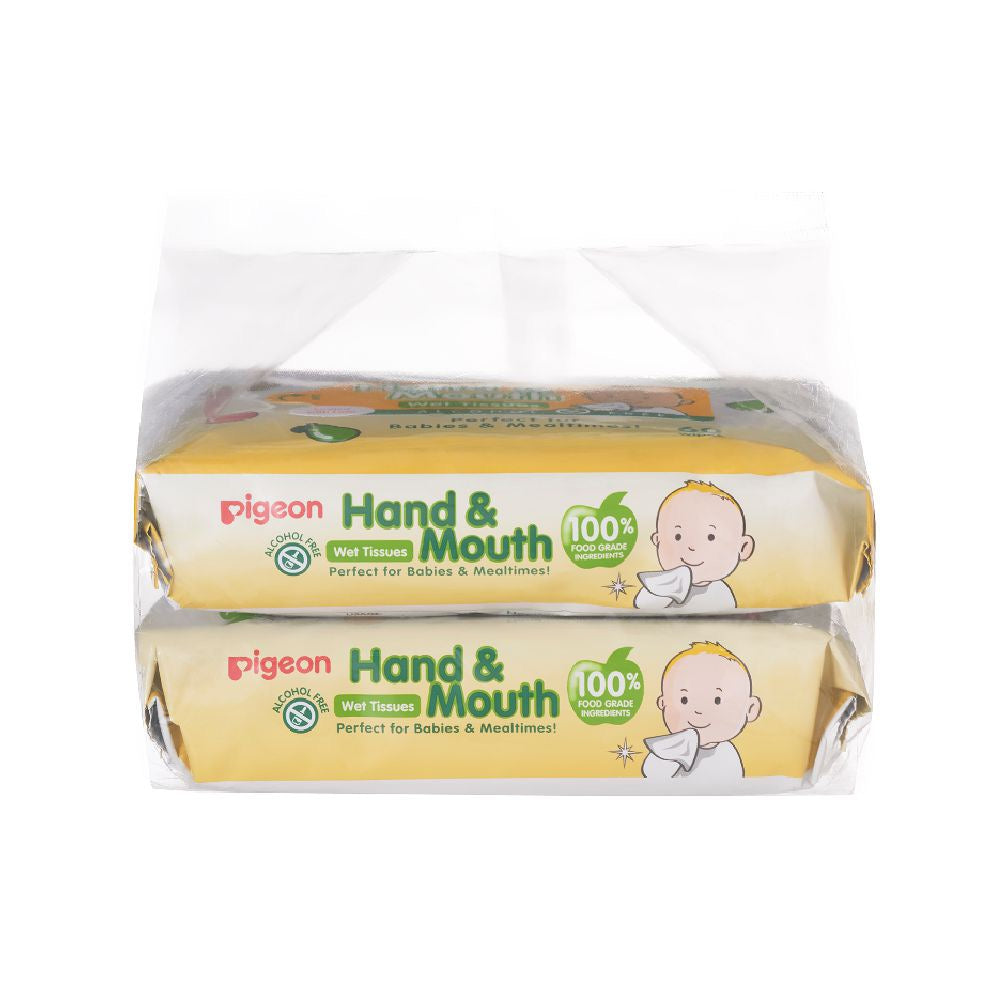 Hand And Mouth Wet Tissues 60 Sheet 2 in 1