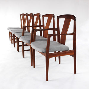 RARE Folke Ohlsson Dining Chairs Set of 6 in Teak for Dux Vintage Mid Century