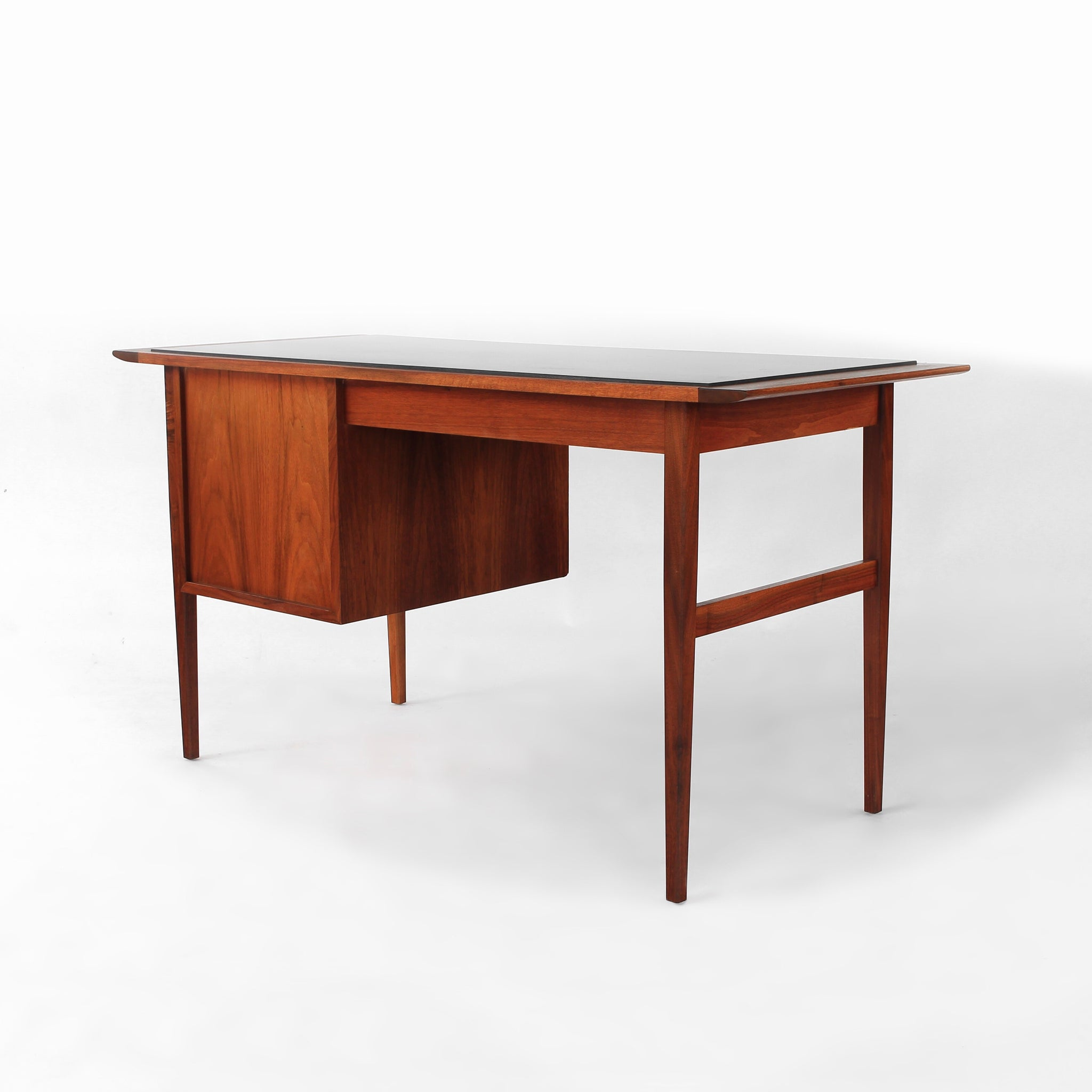 ... Load Image Into Gallery Viewer, Jack Cartwright For Founders Desk  Walnut Slate Top Vintage Mid ...