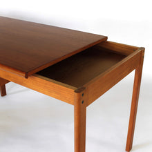 Mid Century Danish Modern Teak Slide Top Desk by Peter Løvig Nielsen