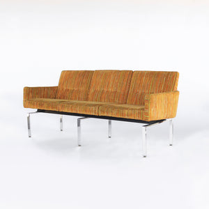 Exceptional Vintage Mid Century Modern Sofa / Couch Chrome Base