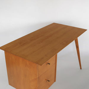 Paul McCobb Planner Group Desk in Solid Maple by Winchendon