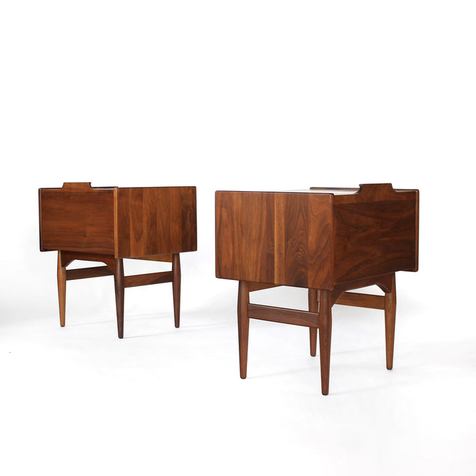 Exceptional John Caldwell for Brown Saltman Nightstands - A Pair