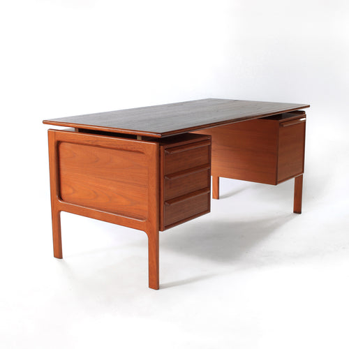 Stunning Mid Century Danish Modern Teak Floating Top Desk - Gasvig