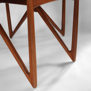 Niels Koefoed Teak Dining Set with Gate Leg Table and 6 Ingrid Dining Chairs