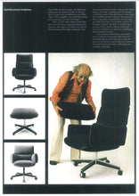 Load image into Gallery viewer, Otto Zapf for Knoll Leather Executive High Back Chair Mid Century Modern