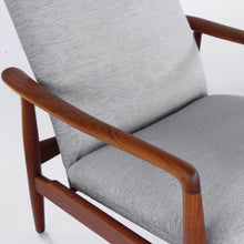 Load image into Gallery viewer, Mid Century Danish Søren Ladefoged for SL Møbler Teak Lounge Chair