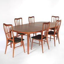 Load image into Gallery viewer, Danish Teak Dining Set by Harry Østergaard and Niels Koefoed - Extension Table and 6 Chairs