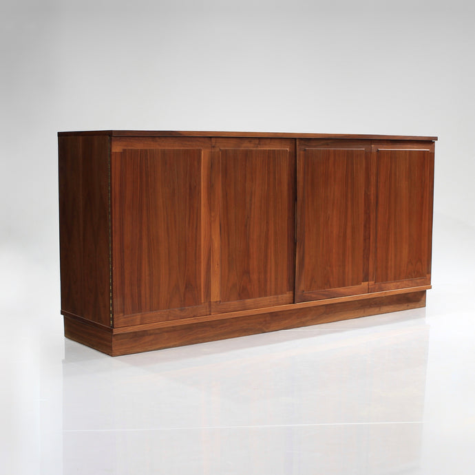 Jack Cartwright Walnut Plinth Base Credenza