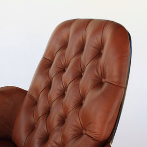 Plycraft George Mulhauser 'Mrs. Chair' in Leather - Mid Century Modern Lounge Chair