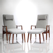 Load image into Gallery viewer, Mid Century Danish Søren Ladefoged for SL Møbler Teak Lounge Chairs