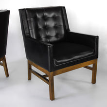 Load image into Gallery viewer, Mid Century Modern Black Club Chairs by Drexel