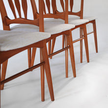 Load image into Gallery viewer, Niels Koefoed Ingrid Dining Chairs in Teak Koefoed / Hornslet of Denmark Set of 6