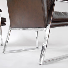 Load image into Gallery viewer, Mid Century Modern Armchairs Set of two (2) Style of Milo Baughman Metal Base