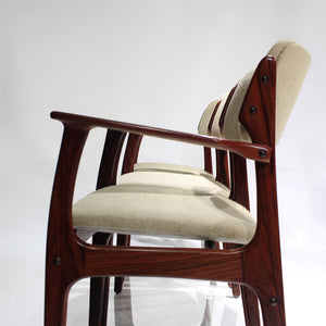 Erik Buch Rosewood Model 50 Dining Chairs - Set of 6