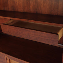 Load image into Gallery viewer, Jack Cartwright for Founders Walnut and Cane Credenza with Rare Hutch