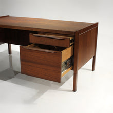 Load image into Gallery viewer, Exceptional Mid-Century Walnut L-Shape Desk with Return