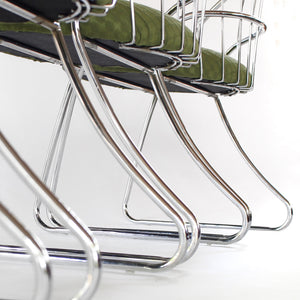 Mid Century Modern Chrome Dining Chairs by Daystrom