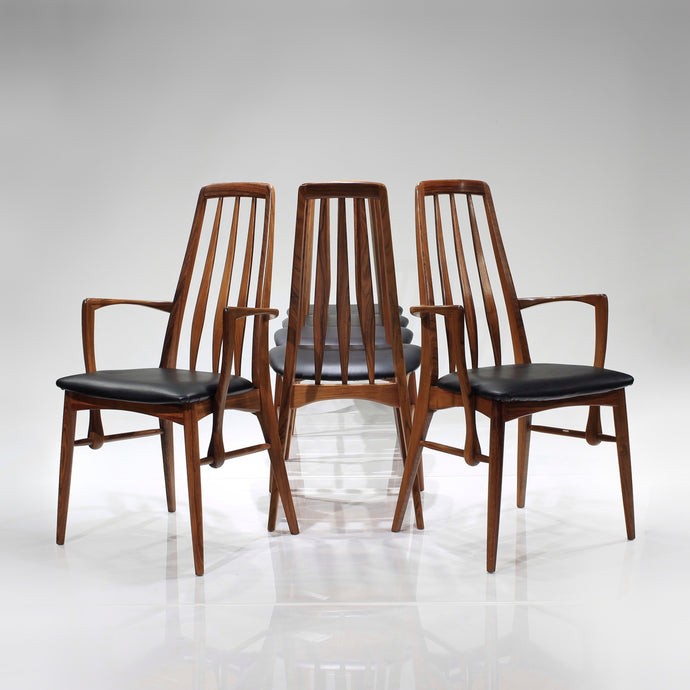 Mid-Century Rosewood 'Eva' Dining Chairs by Niels Koefoed - Set of 6