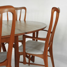 Load image into Gallery viewer, Niels Koefoed Teak Dining Set with Gate Leg Table and 6 Ingrid Dining Chairs
