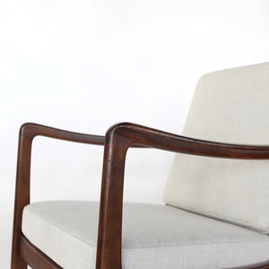 Mid Century Danish Ole Wanscher Lounge Chairs Model 107 - a Pair