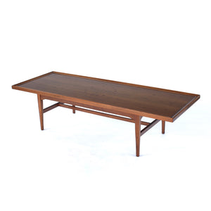 Mid Century Kipp Stewart Drexel Declaration Walnut Coffee Table