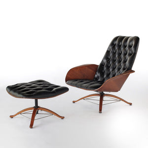 RARE Mr and Mrs Chair by George Mulhauser for Plycraft 1st Editions - Mid Century Modern Lounge Chairs