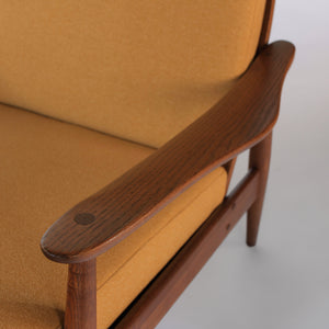 Mid Century Heywood Wakefield High Back Lounge Chair