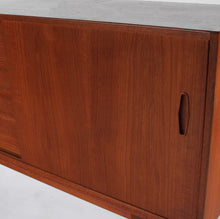 Load image into Gallery viewer, Nils Jonsson Credenza with Hutch for Troeds Mid Century Scandinavian Design Vintage Modern Sideboard Hutch / China Cabinet