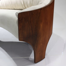 Load image into Gallery viewer, Rare Henry P. Glass Intimate Island Suite Walnut Sofa / Loveseat